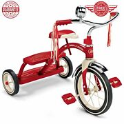 Trike Classic Tricycle Dual Deck Retro 12 Front Wheel Steel Frame/ Red