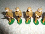 Wwi Metal Painted Toy Soldiers Barclay Uniform Guns American Flag Made In France
