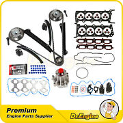 Water Pump Timing Chain Kit Cam Phaser Head Gasket Set For 07-08 Ford F-250 5.4l