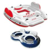 Intex Marina Breeze Island Lake Raft With Built-in Cooler + 2 Person Tube Float