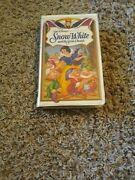 Snow White And The Seven Dwarfs Vhs Walt Disney Masterpeice Collection 1524