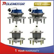 2 Front And 2 Rear Wheel Hubs Bearing Assembly For Buick Chevy Oldsmobile Pontiac