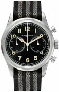 1858 Black Dial Chronograph Menand039s Watch - Ref. 117835 - Brand New