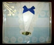 Hand Crochet Vintage Unused Sheet Set With 2 Pillowcases 1960's By Oram