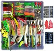 275 Pcs Fishing Tackle Box Full Accessories Hooks Lures Baits Parts Full Loaded