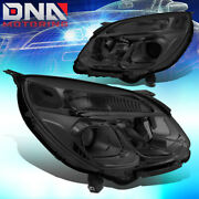 For 2016-2017 Chevy Equinox Smoked Housing Clear Side+signal Projector Headlight