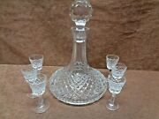 Waterford Alana Ships Decanter 6 Small Liquors Free Shipping