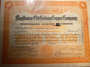 75 Mayflower Old Colony Copper Company Mining Stock Certificate