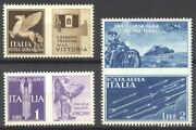 Italy C13 16-17 Var Scarce Mint Nh - 1930 Airmails W/ Labels