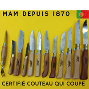 Couteau Mam Portugal Inox Pocket Knife Wood-chasse-peche-nature Depuis 1870