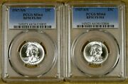 1947-s/s Pcgs Ms64 Fs-501 Rpm Washington Quarter - 100 White