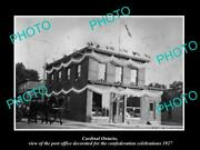 Old Postcard Size Photo Of Cardinal Ontario Canada The Post Office C1927