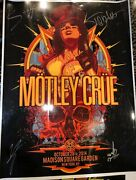 Motley Crue Autographed Signed 2014 Msg Ny Concert Tour Poster New York The Dirt