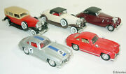 5 Solido 143 Scale Model Diecast Toy Cars - Mercedes 300sl Gullwing Dusenberg
