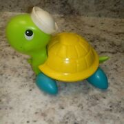 Vintage 1970s Fisher Price Tag Along Turtle Pull Toy Retro Plastic Toys 70s Cute