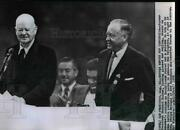 1956 Wire Photo Ex President Herbert Hoover And Sen. Styles Bridges-convention