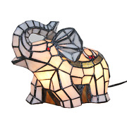 Stained Glass Elephant Table Lamp Night Lighting Home Decoration Gifts