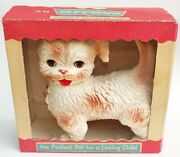 Woofie The Cuddly Squeeze Toy Dog No. 410 By Arrow Vintage Nib