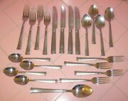 Wallace Stainless Flatware Napoli Frost 21 Pcs Spoons Forks Knives Gloss Matte