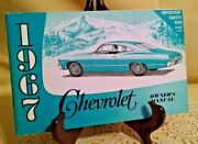 Impala 1967 Chevrolet Owners Manual Stated Fe All General Motors 6 8 Cylinders.