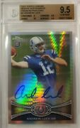 Andrew Luck 2012 Topps Chrome Prism Rookie Refractor Auto Rc /50 Bgs 9.5/10 Gem