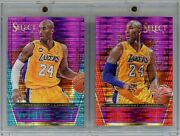 Kobe Bryant /99 Sp 2013-14 Select Red Hot And White Hot 3 And 19 Purple Prizm Hof