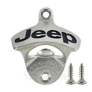 Jeep Beer Bottle Opener Solid Stainless Steel Deep Engrave Limited Production