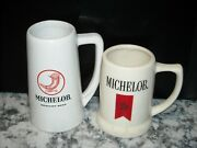 Lot Of 2 Michelob Beer Steins Mugs