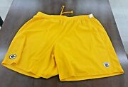 1 Pair 4x Reebok Nfl Equipment Shorts Direct From Green Bay Packers