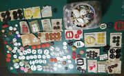Vintage Sewing Buttons Mixed Lot Some On Cards