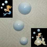 Blue Bubble Wall Plaques For Norcrest Mermaids - Vintage And Retro Bath Fish Decor
