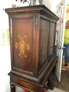 Antique Sideboard Cabinet Buffet Wrought Iron Below Claw Feet On All Pieces