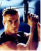 Jean-claude Van Damme Signed Autographed Double Impact Alex And Chad Wagner Photo