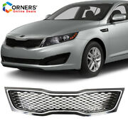 Fits Kia Optima Sx Sxl 2011 / 2013 Front Upper Factory Style Grill Chrome Grille