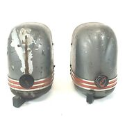 Vintage Stewart Warner South Wind Under Dash Accessory Heaters 1930and039s 40and039s Pair