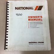 National 400 Truck Crane Service Manual Parts Book Operation And Maintenance Guide