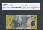 Aust1995 50 Fraser/evans Qeii R-516a Aunc -missing Rev Print And Repeater Serial