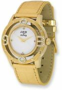 Moog Fashionista 0309 Mother Of Pearl Dial/gold-tone Strap Watch