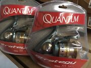 Lot Of 2 Quantum Strategy Sr60 Fishing Reels Saltwater Pier And Inshore