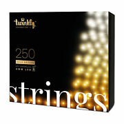 Twinkly 250 Led Amber And White 65.5 Ft Bluetooth Outdoor Christmas Icicle Lights