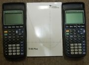 2 Texas Instruments Ti-83 Plus Graphing Calculators With Manual 0701-94