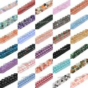Gemstone Smooth Round Loose Spacer Beads 6mm 8mm 10mm 16 Full Strand