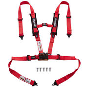 2and039and039 4-point Seat Belt Latchandlink Safety Harness With Soft Shoulder Pad Universal