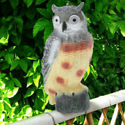 Plastic Realistic Owl Decoy Weed Pest Control Pigeon Scarer Lawn Ornament