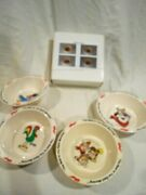 1995 Kelloggs Set Of 4 Cereal Bowls Nos