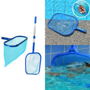 Swimming Pool Cleaning Maintenance Kit W/ Leaf Skimmer Net, Thermometer And Pole
