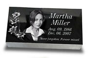 12x24x4 Inch Human Headstone Tombstone On The Grave Marker People Laser Engra