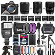 Sony Alpha A7 Iii Mirrorless Digital Camera + 9pc Filter Kit - Choose A Lens Kit