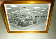Vintage Black And White Photograph Haaks Dept Store Lebanon Pa Hats Framed 1940s