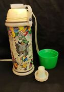C1960 Old Vintage Walt Disney Thermos By Eagle Brand Co Made In India